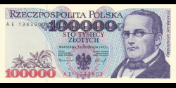 Pologne - p160 - 100 000Złotych - 16.11.1993 - Narodowy Bank Polski
