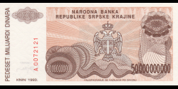 Croatie - pR29 - 50.000.000.000 Dinara - 1993 - Narodna Banka Republike Srpske Krajin