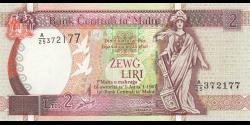 Malte - p45d - 2 Lira - L. 1967 (1994) - Bank Ċentrali ta'Malta