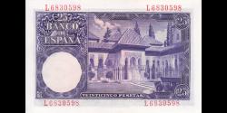 Espagne - p147 - 25Pesetas - 22.07.1954 - Banco de España