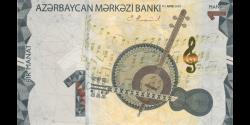 Azerbaïdjan - p38a- 1 Manat - 2020 - Azərbaycan Mәrkәzi Bankı