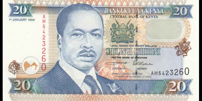 Kenya - p35a - 20 shilingi - 1.1.1996 - Banki Kuu ya Kenya / Central Bank of Kenya
