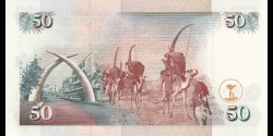 Kenya - p36a2 - 50 shilingi - 1.1.1996 - Banki Kuu ya Kenya / Central Bank of Kenya