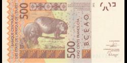 Togo - p819Ti - 500 Francs - 2020- Banque Centrale des États de l'Afrique de l'Ouest