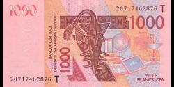 Togo - p815Tt - 1 000 Francs - 2020- Banque Centrale des États de l'Afrique de l'Ouest