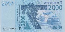 Togo - p816Tt - 2 000 Francs - 2020- Banque Centrale des États de l'Afrique de l'Ouest