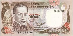 Colombie - p439a - 2.000 Pesos - 1.7.1983 - Banco de la República