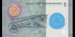 Nicaragua - p219 - 5 Córdobas - Res. 23.10.2019 (2020) - Banco Central de Nicaragua