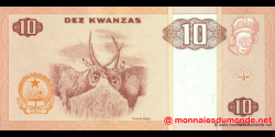 angola - p145a - 10 kwanzas - 10.1999 - Banco Nacional de Angola