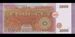 Syrie - p117c - 2 000 Syrian Pounds - 2018 - Central Bank of Syria