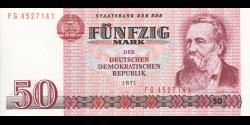 République Démocratique d'Allemagne - p30b - 50 Mark der DDR - 1971 - Staatsbank der DDR