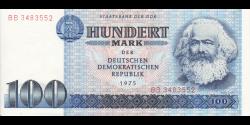 République Démocratique d'Allemagne - p31b - 100 Mark der DDR - 1975 - Staatsbank der DDR