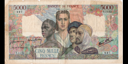France - p103c - 5.000 Francs - 13.09.1945 - Banque de France