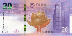 Macao - pNew- 20 Patacas - 01.04.2019 - Banco da China