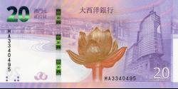 Macao - pNew- 20 Patacas - 01.04.2019 - Banco Nacional Ultramarino