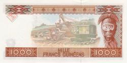 Guinée - p37 - 1 000 francs - 1998 - Banque Centrale de la République de Guinée