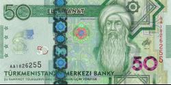 Turkménistan - pNew - 50 Manat - 2020 - Türkmenistanyň Merkezi Banky