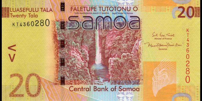 Samoa - p40c - 20 tala - ND (2017) - Faletupe Tutotonu o Samoa / Central Bank of Samoa