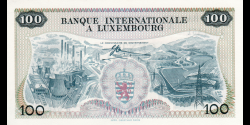 Luxembourg - p14 - 100 Francs - 01.05.1968 - Banque Internationale à Luxembourg