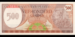 Suriname - p129 - 500 Gulden - 01.04.1982 - Centrale Bank van Suriname