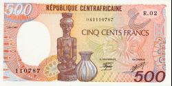 Rep - Centrafricaine - p14c - 500 Francs - 1987 - Banque des États de l'Afrique Centrale
