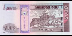 Mongolie - p68c - 5 000Tögrög - 2013 - Mongolbank