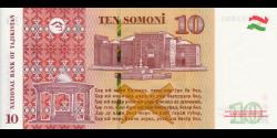 Tadjikistan - p24c - 10Somoni - 2018 - Bonki Millii Tochikiston / National Bank of Tajikistan