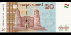 Tadjikistan - p25c - 20Somoni - 2018 - Bonki Millii Tochikiston / National Bank of Tajikistan