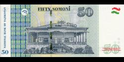 Tadjikistan - p26c - 50Somoni - 2018 - Bonki Millii Tochikiston / National Bank of Tajikistan