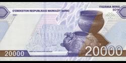 Ouzbékistan - pNEW - 20 000Sum - 2021 - O'zbekiston Respublikasi Markaziy Banki
