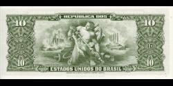 Brésil - p177a -10 Cruzeiros - ND (1962) - Republica dos Estados Unidos do Brasil, Tesouro Nacional
