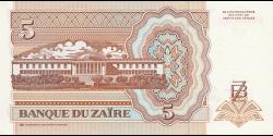 Zaïre - p53a - 5 Nouveaux Zaïres - 24.06.1993 - Banque du Zaïre