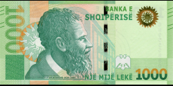 Albanie - pnew - 1 000Lekë - 2019 - Banka e Shqiperise