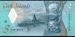 Cook - Islands - p11 - 3 Dollars - ND (2021) - Ministry of Finance