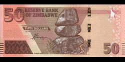 Zimbabwe - p105a - 50 Dollars - 2020 - Reserve Bank of Zimbabwe