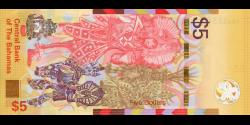 Bahamas - pNew - 5 Dollars - 2020 - Central Bank of the Bahamas