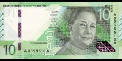 Pérou - pNew - 10 Soles - 21.3.2019 - Banco Central de Reserva del Perú