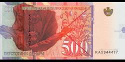 Macédoine - pNew - 500 Denari - 04.2020 - Narodna Banka na Republika Severna Makedonija