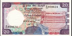 Sri - Lanka - p097c - 20Roupies - 05.04.1990 - Central Bank of Sri Lanka