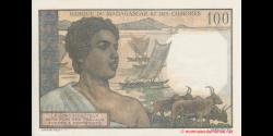 Comores - p03b2 - 100 francs - 1963 - Banque de Madagascar et des Comores