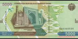 Ouzbékistan - pNEW - 5 000Sum - 2021 - O'zbekiston Respublikasi Markaziy Banki
