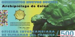Galapagos - pNL02 - 500 Nuevos Sucres - 1.06.2012 - Oficina Intercambiara de Ultramar del Antartico