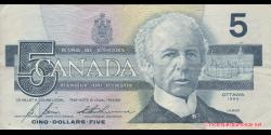 Canada - p095c - 5 Dollars - 1986 - Bank of Canada / Banque du Canada