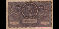 Pologne - p029 - 1.000 Marek Polskich - 23.8.1919 - Polska Krajowa Kasa Pożyczkowa