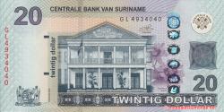 Suriname - p164c - 20 dollars - 01.02.2019 - Centrale Bank van Suriname