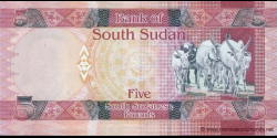 Sud - Soudan - p06a - 5 Pounds - ND (2011) - Bank of South Sudan