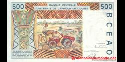 Bénin - P210Bn - 500 francs - 2002 - Banque Centrale des États de l'Afrique de l'Ouest