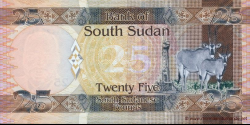 Sud - Soudan - p08 - 25 Pounds - ND (2011) - Bank of South Sudan