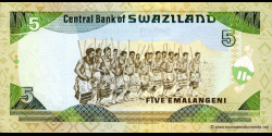 Swaziland - p23 - 5 Emalangeni - ND (1995) - Central Bank of Swaziland