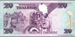 Tanzanie - p15 - 20 Shilingi - ND (1986) - Benki Kuu ya Tanzania